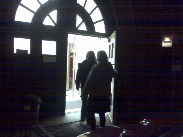 A grandmother and Nar-Anon facilitator Jane Newcomb (right) walk into the St.  Francis Center on Center Street on Thursday, Jan. 5, 2012, where Bangor's Nar-Anon meetings are held weekly to provide support to family members dealing with narcotics addiction.  Meetings are held 6:30 p.m. Thursdays. &quotAre you suffering? Are you having trouble in your life because of a loved one who is addicted? There is help through Nar-Anon,&quot Newcomb said.