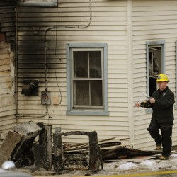 Blaze damages Orrington bakery