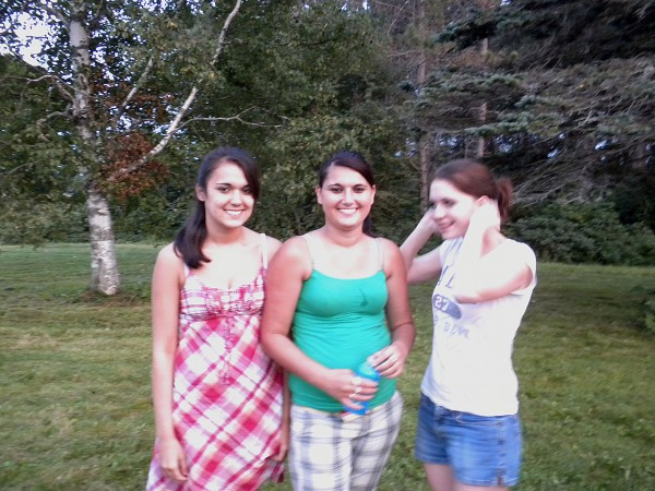 Virginia Sue Pictou-Noyes' three daughters (from left) Myley, 20, Britney, 21, and Lanae, 19.