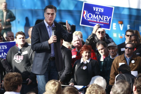 Republican presidential candidate, former Massachusetts Gov. Mitt Romney campaigns at Andrews Field House at Wofford College in Spartanburg, S.C., Wednesday, Jan. 18, 2012.
