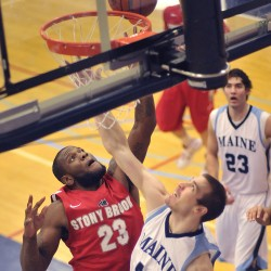 Stony Brook handles sluggish UMaine men's basketball team in Black Bears' home finale