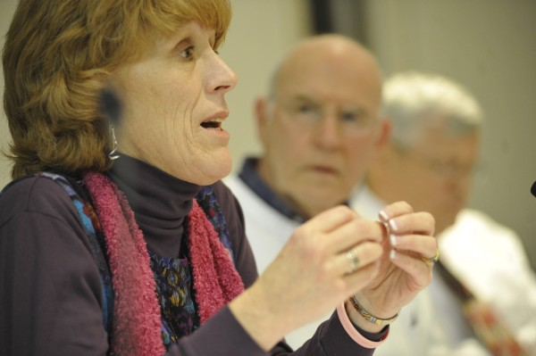 Hampden Town Manager Susan Lessard speaks during a March 7, 2011, Town Council meeting regarding the town's comprehensive plan.
