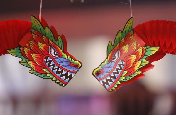Decorations commemorate the Year of the Dragon at a celebration of the Vietnamese Lunar New Year, Saturday, Jan. 14, in Portland. In Asian culture the Dragon is believed to bring luck, strength and wisdom.