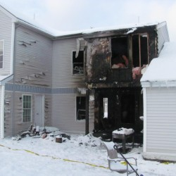 Fire at Brunswick apartment building displaces residents