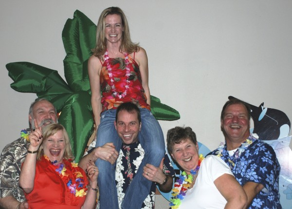 Steve Carr (from left), Darlene Carr, Melissa and John Carr and Carol and Dan Ryan have some tropical fun during last year's Eastern Maine Medical Center Auxiliary Beach Ball. This year's Beach Ball is set for 7:30-11:30 p.m. Friday, Jan. 13, at the Bangor Civic Center.