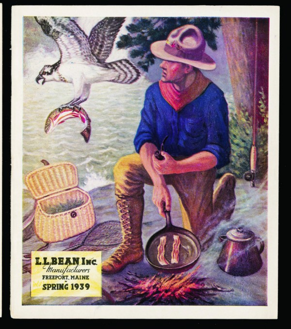 The cover of the Spring 1939 L.L. Bean catalog is one of many vintage company images included in the 100th anniversary edition of &quotHunting, Fishing and Camping.&quot