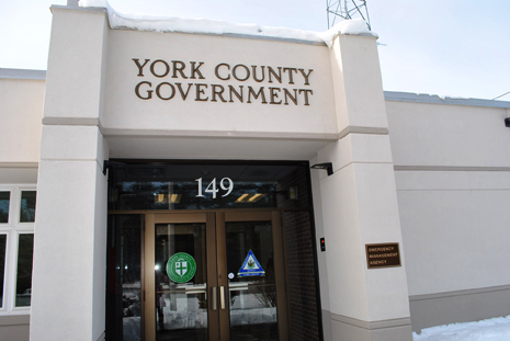 On Sunday, the new home of the York County Emergency Management Agency in Alfred, pictured, was dedicated.