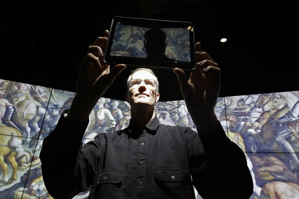 Falko Kuester, pictured December 16, 2011, at UC San Diego, is working with a team of researchers using cutting-edge technology to search for a Leonardo Da Vinci painting that may be hidden behind a mural in Florence, Italy.