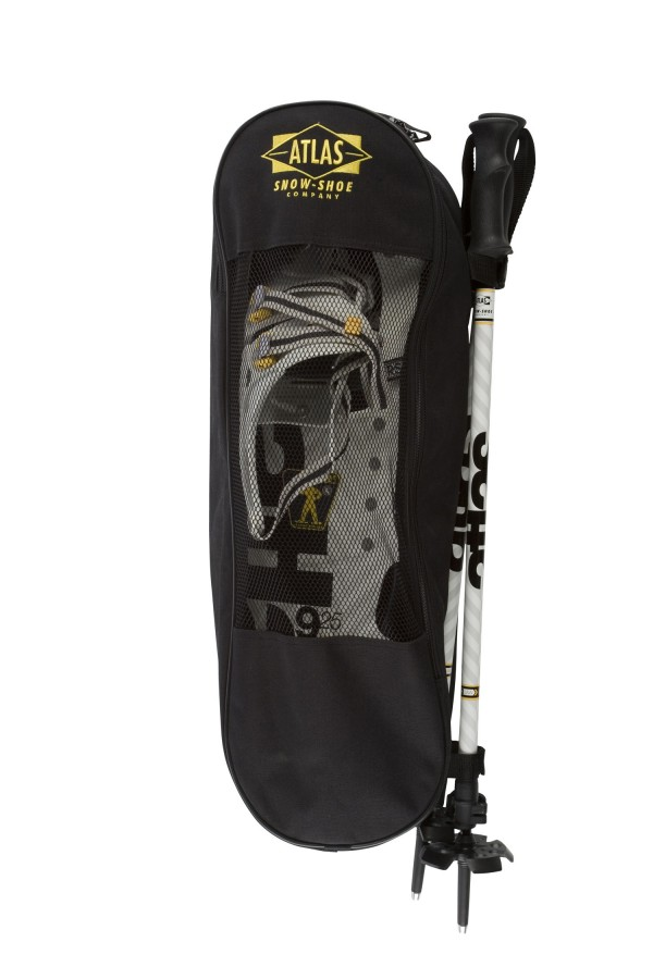 The 9 Series Snowshoe Kit by Atlas includes two 9 Series Snowshoes, two poles and a zippered carrying case, for $199.95 at www.atlassnowshoe.com.