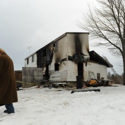 Eight fire departments battle blaze at home of Levant firefighters