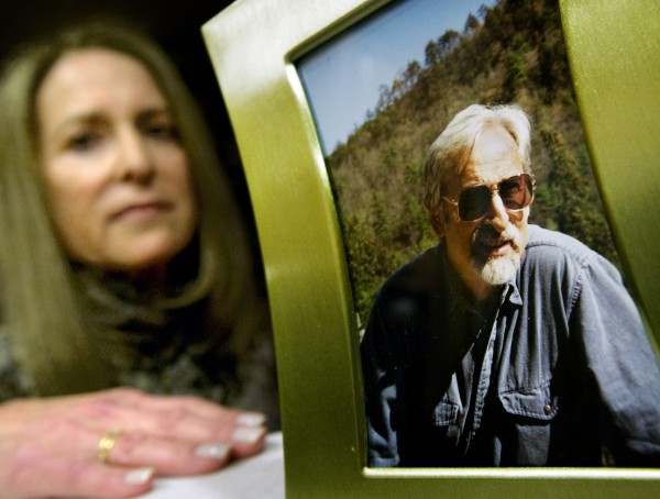 """Toni Footer with a photo of her late father, Martin Privot. She says his experience """"reinforced already strong feelings that long-term-care insurance is a necessity."""""""
