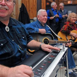 Lovers of old-style country music 'shake a leg' at weekly jams in Brewer