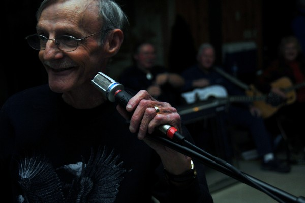 Danny Twist of Winn emcees during a Knights of Columbus Music Jam at the Knights' hall in Lincoln on Wednesday, Jan. 25, 2012.