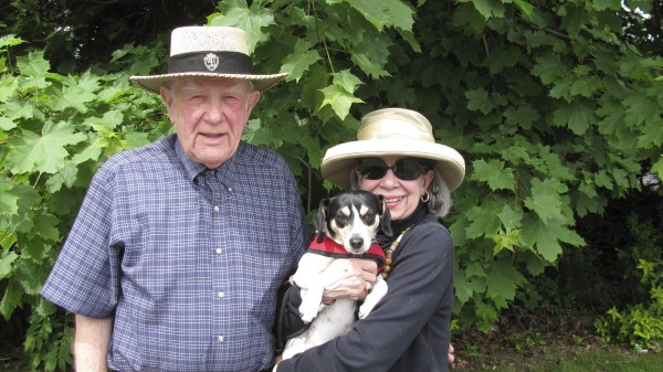 Mart Lapin of Orono enjoys a summer day with his wife, Mary, and their dog Gracie. Mr. Lapin recently wrote the booklet, &quotFour Down and None to Go (So Far): A First-person Account of One Man's Cancer Journey.&quot