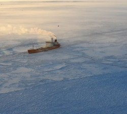 Tanker carrying fuel arrives at iced-in Alaska town