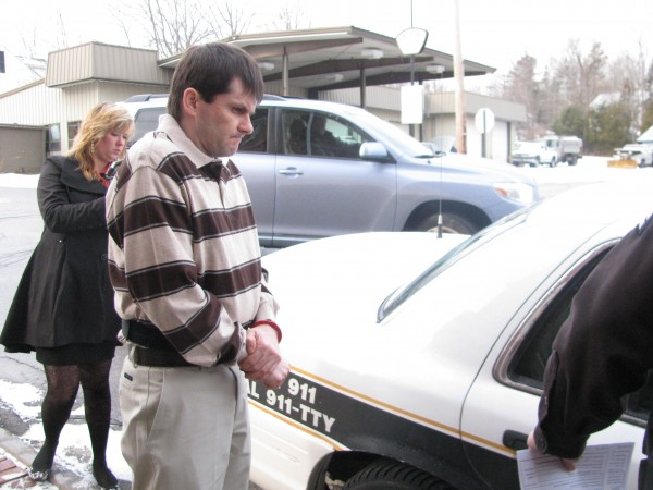 Dennis Edgecomb left Waldo County Superior Court Monday morning after pleading guilty to strangling his girlfriend, Pamela Green, to death in Morrill in 2010. Edgecomb was sentenced to 35 years in the custody of the Maine Department of Corrections.