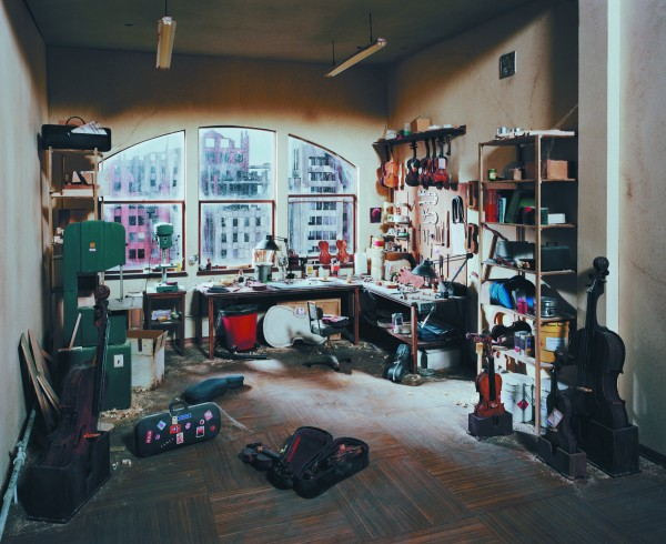 &quotViolin Repair Shop&quot chromogenic print by Lori Nix in 2011 is on display at the University of Maine Museum of Art in Bangor through March 24, 2012.