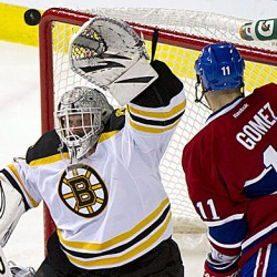 Bruins blank Canadiens, extend win streak to 9