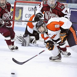 Griffin's 2 goals spark Bangor to hockey win over rival Brewer