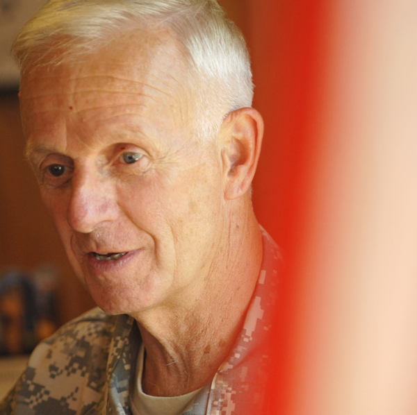 During a 2011 interview in Bangor, Maj. Gen. John W. Libby, adjutant general of the Maine National Guard, reflects on Maine's response to the September 11, 2001, attacks.