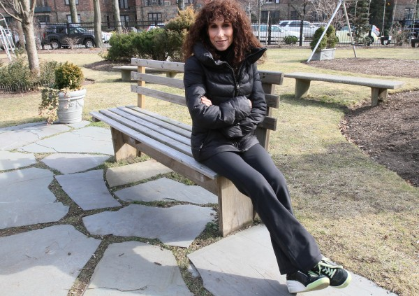 In this Feb. 10, 2012 photo, Jane Byron poses in a park near her home in the Queens borough of New York. Byron, 51, a nurse, has had two knee replacements. Costly knee replacements have more than tripled in people aged 45-64 in recent years and a study released last week found that nearly 1 in 20 Americans older than 50 have these artificial joints. But active boomers can avoid that kind of drastic treatment by properly managing aches and pains.