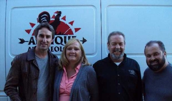 Lisbon couple Kathy and Jim Harris hosted the History Channel's &quotAmerican Pickers&quot duo Mike Wolfe and Frank Fritz for an episode that aired Monday, Feb. 27, 2012 titled, &quotKnuckleheads.&quot The show will play again at 8 p.m. Friday, March 2.
