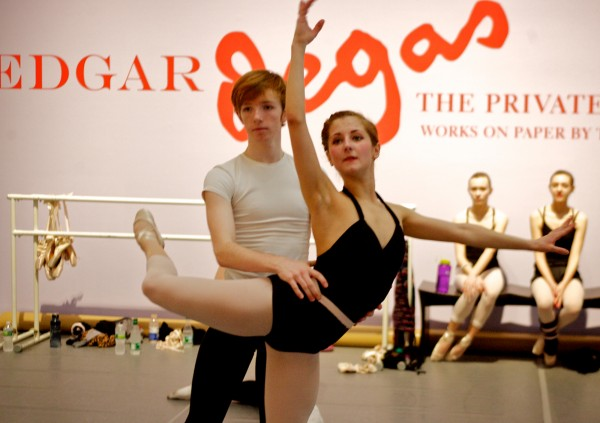 Dancers Michael Holden, 17, and Lizzy Dragoni, 20, practice at the Portland Museum of Art Thursday Feb. 23, 2012.