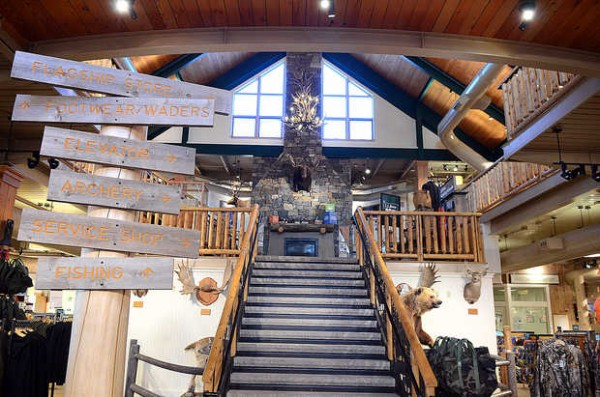 Inside the L.L. Bean store in Freeport recently.