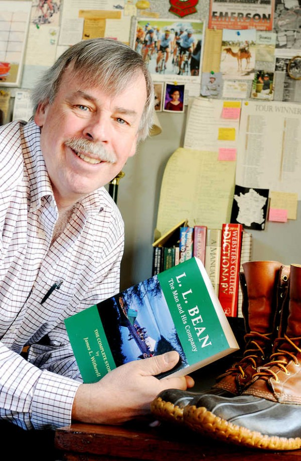 Jim Witherell of Lewiston, who wrote &quotL.L. Bean: The Man and His Company,&quot is seen recently.