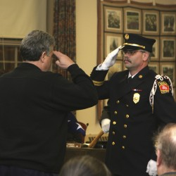 Belfast honors its veteran fire chief