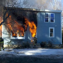 Fire destroys house in Searsmont