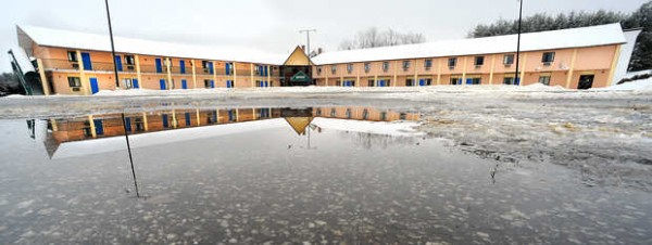The former Chalet Motel on Lisbon Street in Lewiston may soon be partially demolished by the Maine Turnpike Authority to create 75 spots for a new park-and-ride lot.
