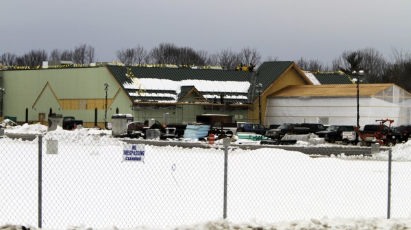 Work continues on building The Oxford Casino, which is under construction and is scheduled to open this summer, in Oxford, Maine, Monday, Feb. 27, 2012.