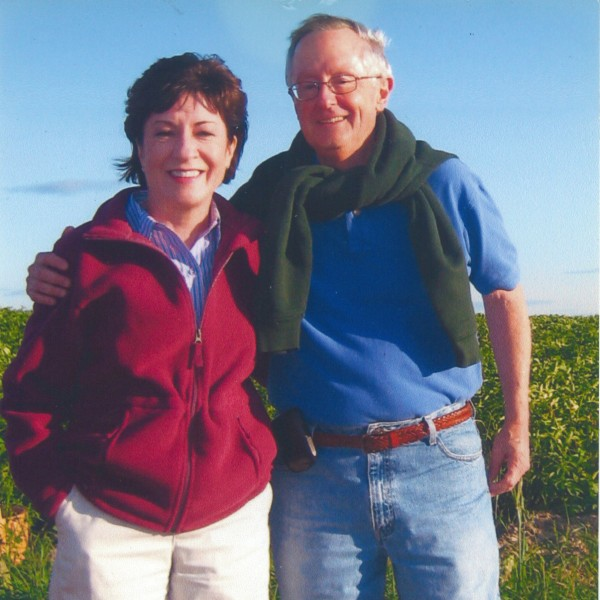 Sen. Susan Collins stands with Thomas A. Daffron, a longtime Senate senior staff member and a consultant.