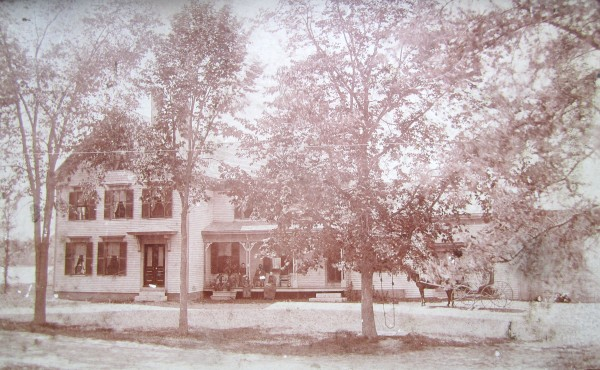 An old family photo of the farmhouse in Orland where Stuart Gross grew up.
