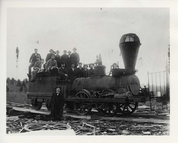 An undated photo of The Lion, an 1846 steam locomotive.