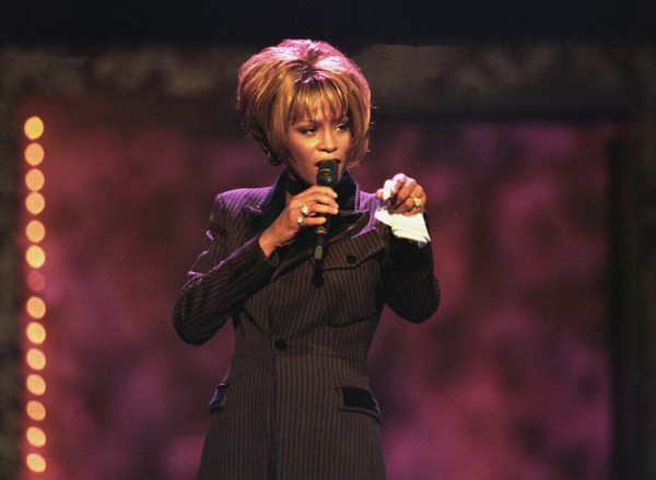 In this photo provided by the Las Vegas News Bureau, Whitney Houston performs during the Billboard Awards at the MGM Grand in Las Vegas on Dec. 7, 1998.  Often referred to as the Queen of Pop music at her best, Houston ex-wife of singer Bobby Brown, died Saturday, Feb. 11, 2012 at the age of 48.