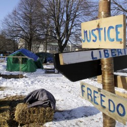 OccupyMaine regroups, returns to Monument Square for Washington's birthday