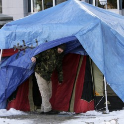 OccupyMaine members help donation drive for victims of storm in New York