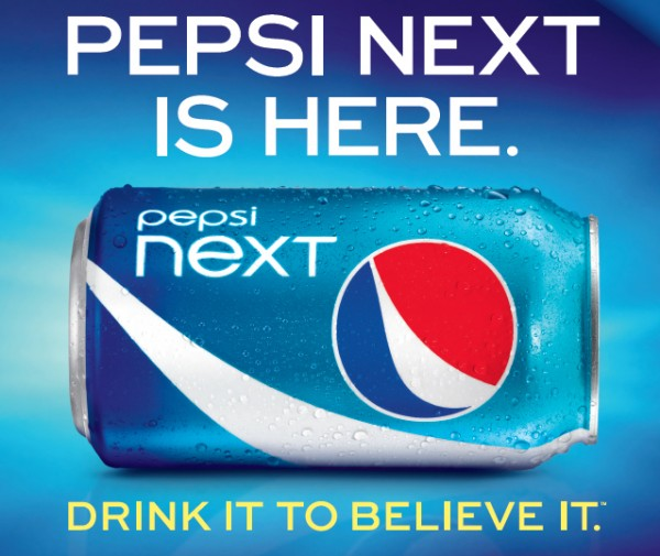 This screen shot provided PepsiCo shows the advertisement for &quotPepsi Next,&quot a mid-calorie drink that has about half the calories of regular Pepsi at 60 calories per can.