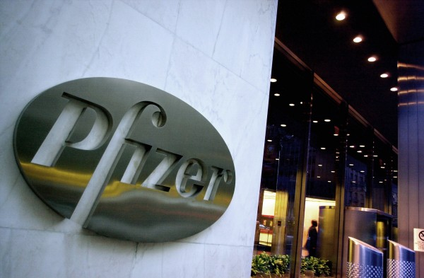 In this April 12, 2005 file photo, the world headquarters of Pfizer Inc. is seen in New York. Pfizer Inc. is recalling 1 million packets of birth control pills due to a packaging error that could raise the risk of an accidental pregnancy by leaving women with an inadequate dose.