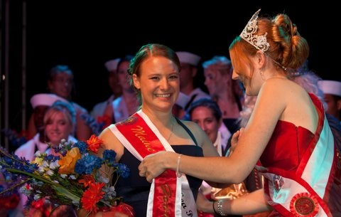 Kristen Sawyer, the 2011 Maine Sea Goddess, will be handing over the crown to her successor at the 2012 August event in Rockland.