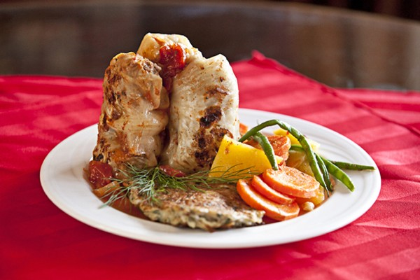 Stuffed Cabbage Rolls are among the dishes offered during Montes International Catering and Gourmet Cafe's International Weeks.