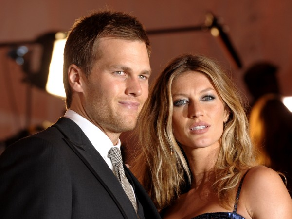 New England Patriots quarterback Tom Brady and Gisele Bundchen arrive at the Metropolitan Museum of Art's Costume Institute Gala in New York in May 2009. The Patriots play the New York Giants in NFL football's Super Bowl XLVI on Sunday, Feb. 5, 2012.