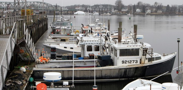 Fishing boats are seen at the Commercial Fishing Pier on Wednesday, Feb. 1, 2012 in Portsmouth, N.H.