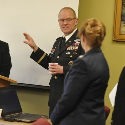 Ann LePage hosts joint chiefs' assistant