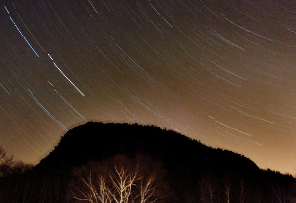 Stars stream through the sky in a 38-minute exposure over Acadia National Park in 2008. Once you get your vision oriented, a lot of information starts streaming in from the night sky.