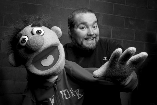 """One of the many puppets from """"Avenue Q,"""" which goes up this weekend at the University of Maine."""