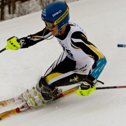 Luce's giant slalom win vaults Mt. Abram girls into first place at state meet