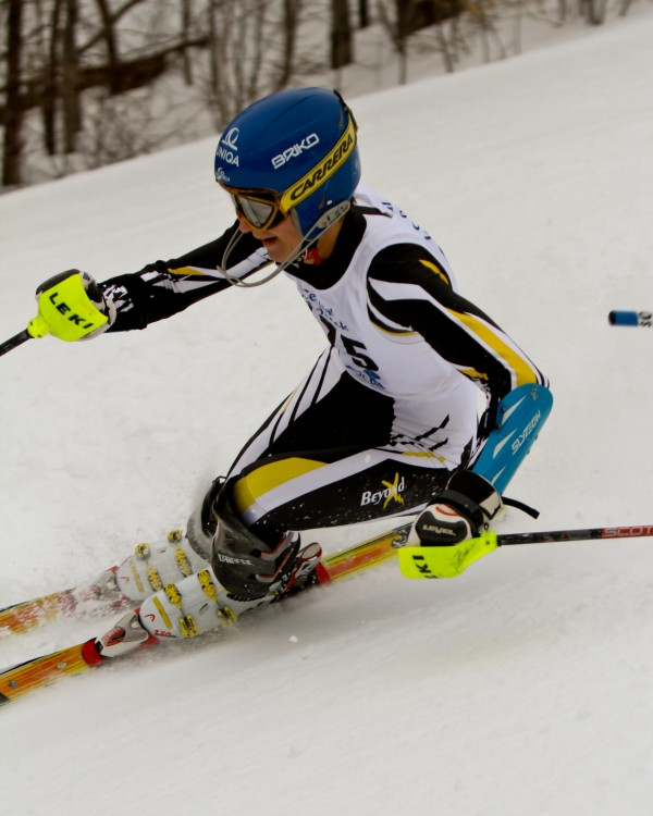 At Big Rock Ski Area in Mars Hill, Alec Diagel of Maranacook  is the Maine State Class B Ski Champion in Slalom. His combine run time was 1:18.16 in  the Slalom race held today.